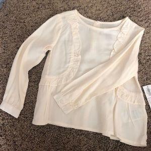 Old navy Girls cream blouse!